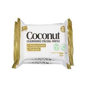 XBC Coconut Cleansing Wipes Twin Pack 25 x 2