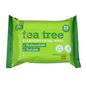 XBC Tea Tree Cleansing Facial Wipes Twin Pack (2 x 25)
