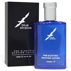 Blue Stratos Pre-Electric Shaving Lotion 100ml