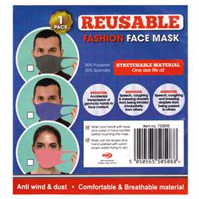 Reusable Fashion Face Mask Pink x 1