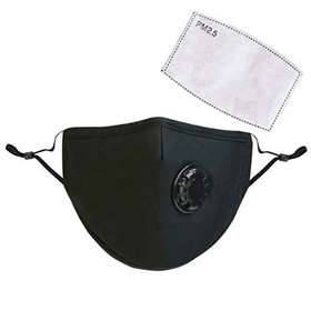 Men's Face Mask With Filter Black x 1