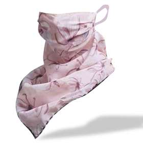 Pink Floral Print Scarf Style Face Covering  x 1