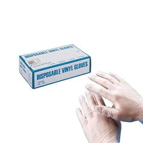 Disposable  Powder Free Vinyl Gloves Medium  x 100