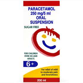 Paracetamol 250mg/5ml Oral Suspension 200ml