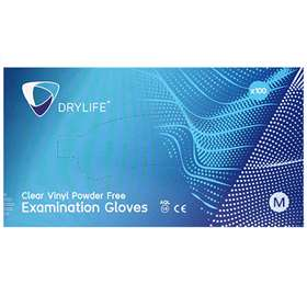 Clear Vinyl Powder Free Gloves Medium x100