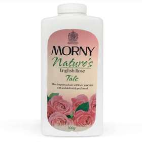 Morny Nature's English Rose Talc 100g