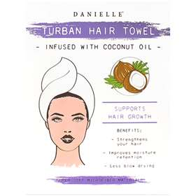 Danielle Coconut Infused with coconut oil Turban Hair Towel