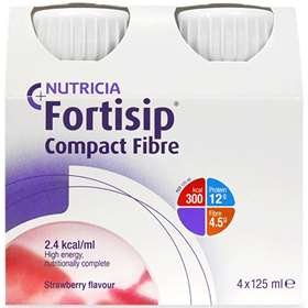 Fortisip Compact Fibre Strawberry 4x125ml