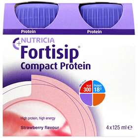 Fortisip Compact Protein Strawberry 4x125ml