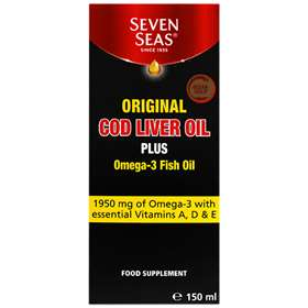 Seven Seas Original Cod Liver Oil Plus Omega-3 Fish Oil 150ml