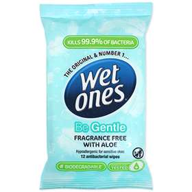 Wet Ones Be Gentle Antibacterial Fragrance Free Wipes 12