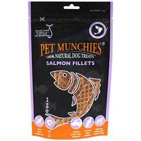Pet Munchies Salmon Fillets Dog Treats 90g