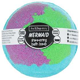 The Soap Story Mermaid Shimmering Bath Bomb 200g