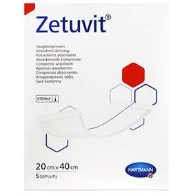 Zetuvit Sterile Absorbent Dressing Pads 20x40cm (5) 413704