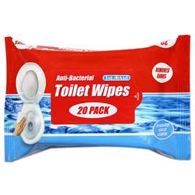 1st Aid Anti-Bacterial Toilet Wipes 20 Pack