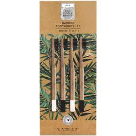 Full Circle Beauty Eco Friendly Bamboo Toothbrushes x 4