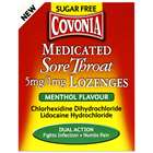 Covonia Medicated Sore Throat Menthol Lozenges 36