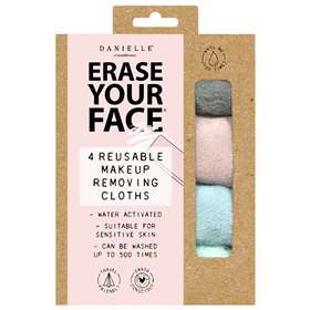 Erase Your Face Reusable Make Up Removing Cloths 4 Pastel