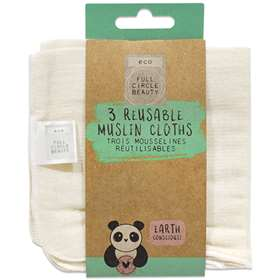 Reusable Muslin Cloths x 3