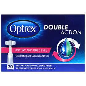 Optrex Double Action Drops for Dry and Tired Eyes - 20x Single Vials