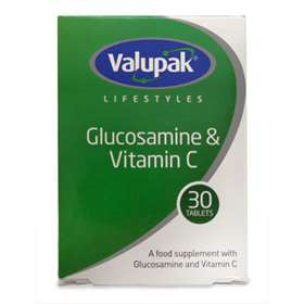 Valupak Glucosamine + Vitamin C 1500mg 30 Tablets