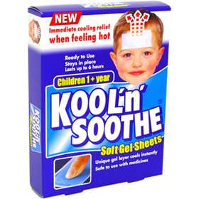 Kool n Soothe Soft Gel Sheets For Children (8)
