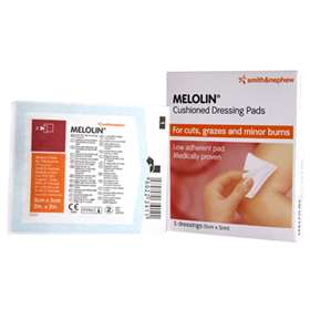 Melolin Cushioned Dressing Pads 5cm x 5cm (5)