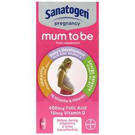 Sanatogen Mother To Be 30 Tablets