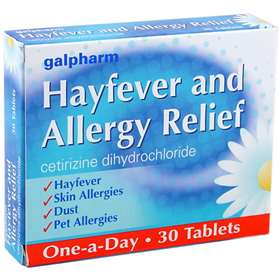 Galpharm Hayfever & Allergy Relief Tablets (30) Cetirizine