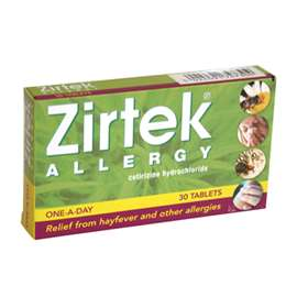 Zirtek Allergy Tablets 10mg (30)
